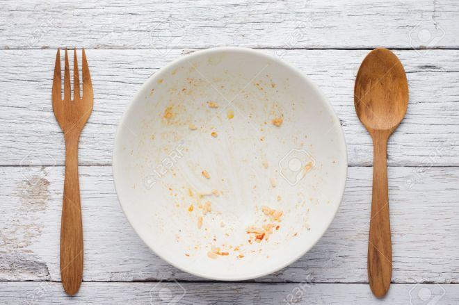 30032311-an-empty-plate-dirty-after-the-meal-is-finished-view-from-above-stock-photo